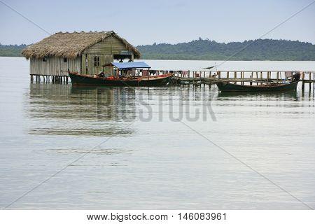 Stilt house Ream National Park Cambodia Southeast Asia