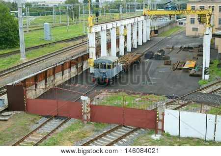 depot for working of trains in the city.