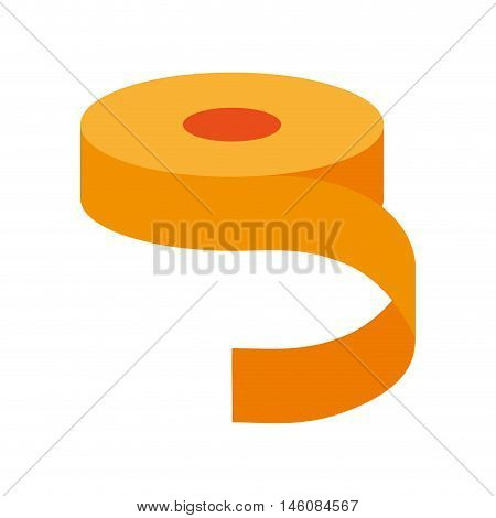 yellow scotch roll of adhesive tape object vector illustration