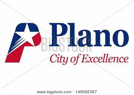 Flag of Plano in Texas United States