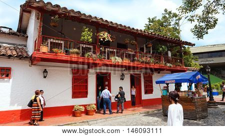 Medellin, Antioquia / Colombia - November 10 2015: Activity in