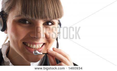 Beautiful Customer Representative