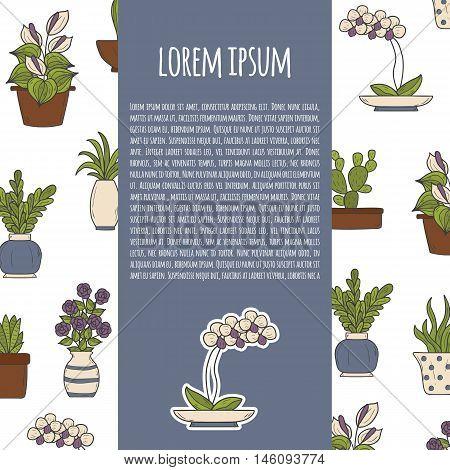 Vector Cartoon Homeplant Background