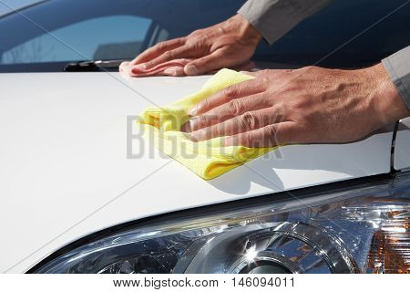 Cleaning The Car.