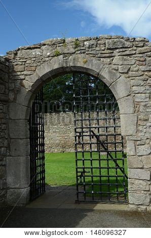 A view of the entrance gateway at Craigmillar castle