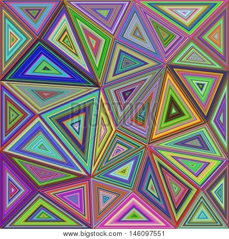 Irregular concentric triangle mosaic vector background design