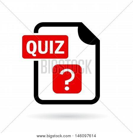 Quiz vector icon illustration isolated on white background