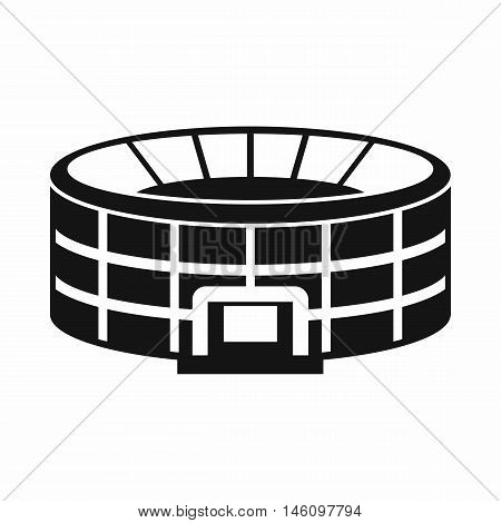 Stadium icon in simple style on a white background vector illustration