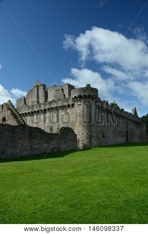 An external view of the ruins of Craigmillar Castle