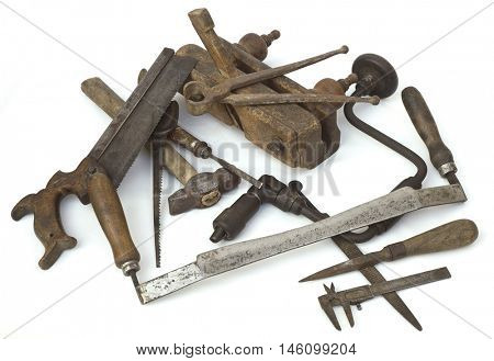 Heap of Old Carpenter Tools