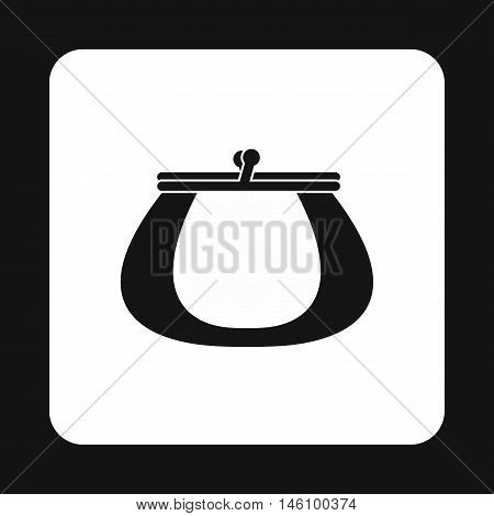 Retro purse icon in simple style on a white background vector illustration