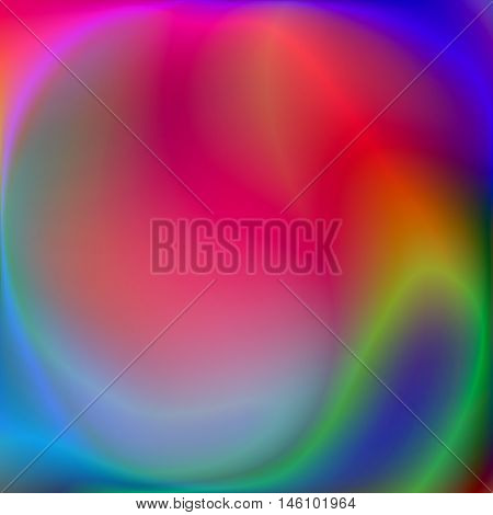 Abstract petrol rainbow background, psychedelic wallpaper, fire flowers, bright vector abstraction