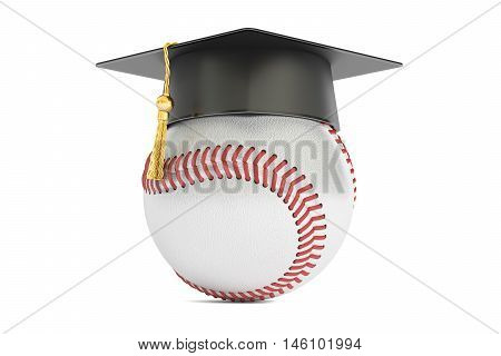 baseball sports education concept 3D rendering isolated on white background