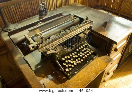 Old Fashioned Vintage Typewriter