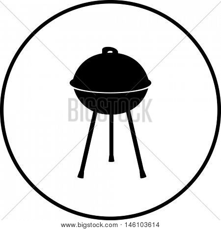 closed charcoal grill symbol