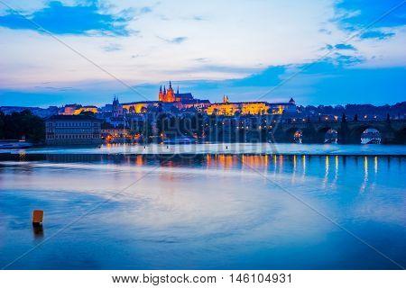 River Vltava, Charles Bridge Prague Czech Republic