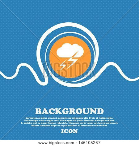 Weather Icon Sign. Blue And White Abstract Background Flecked With Space For Text And Your Design. V