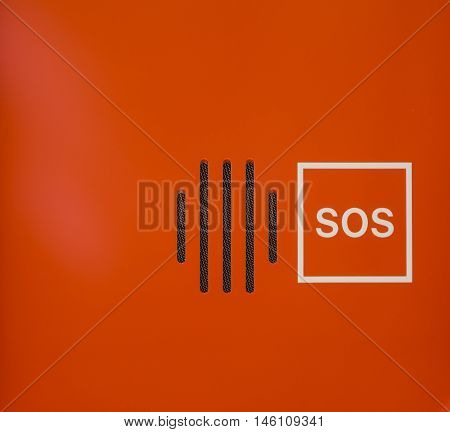 Bright Orange Abstract SOS Speaker Emergency Contract Device