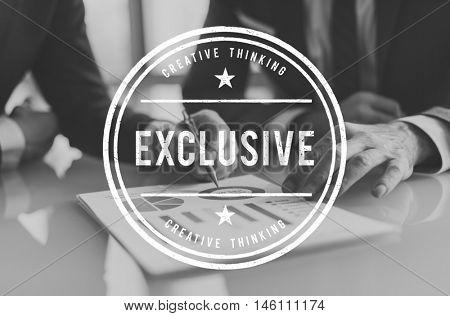 Exclusive Confidential Private Solitude Graphic Concept