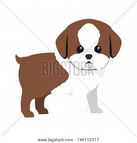 dog canine pet animal. puppy cartoon. vector illustration