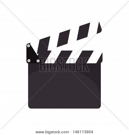 cinema action clapboard. filmmaking and cinematography device. vector illustration