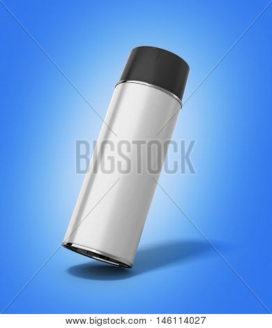 Bottle Spray Paint Or Automotive Grease White 3D Render On Gradient Background