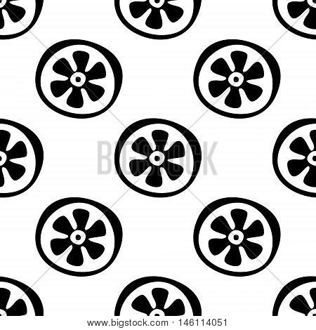 Seamless vector pattern with fruits. Endless background with citrus. Graphic illustration. Series of fruits vector seamless patterns.