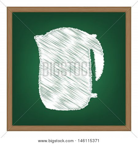 Electric Kettle Sign. White Chalk Effect On Green School Board.