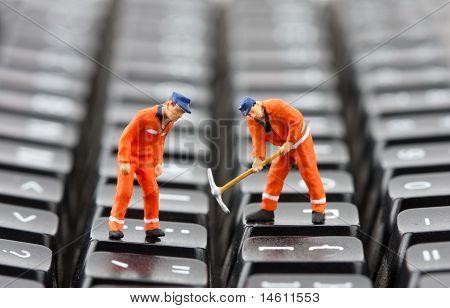 Arbeitnehmer Reparatur Tastatur