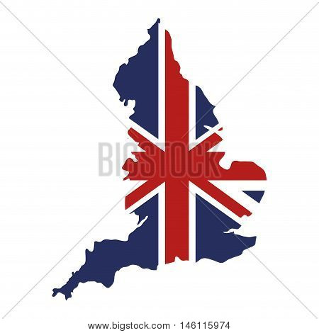 london flag in city map british symbol. vector illustration