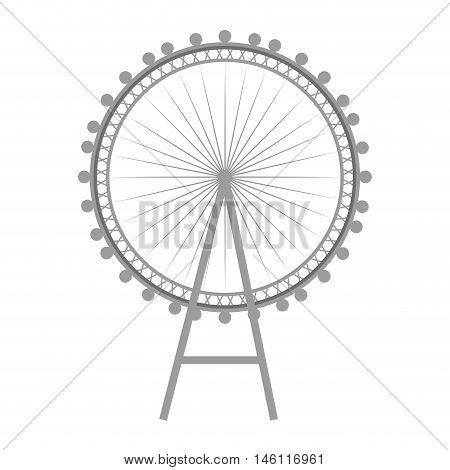 british london eye wheel iconic english monument. vector illustration
