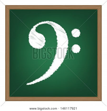 Cube Sign Illustration. White Chalk Effect On Green School Board.