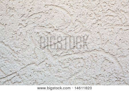 Full Frame Rough Beige Stucco Wall Close-up