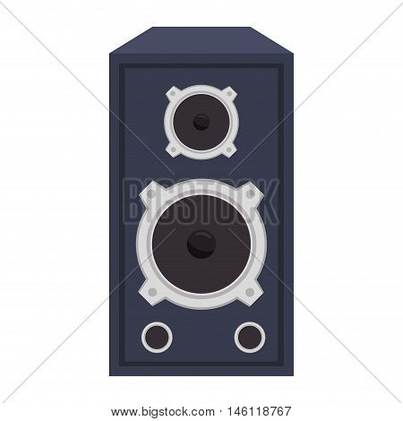 speaker sound bass. music audio device. vector illustration