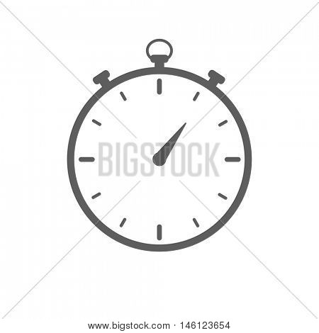 Stopwatch icon illustration on a white background
