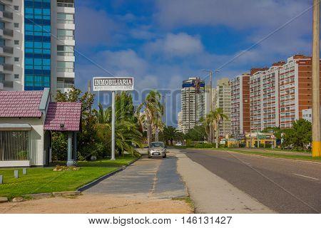 PUNTA DEL ESTE, URUGUAY - MAY 06, 2016: city located in the state of maldonado in the southeastern of uruguay.