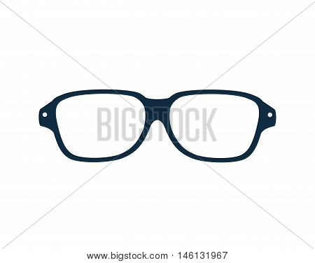 glasses frame eyewear vision accessory. optic les. vector illustration