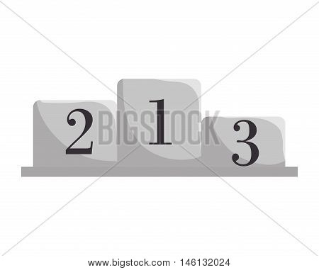 championship winners pedestal  podium position numbers places. vector illustration
