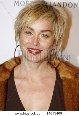 Sharon Stone at the Scandinavian Style Mansion held at the Private Residence in Bel Air, USA on December 1, 2007.