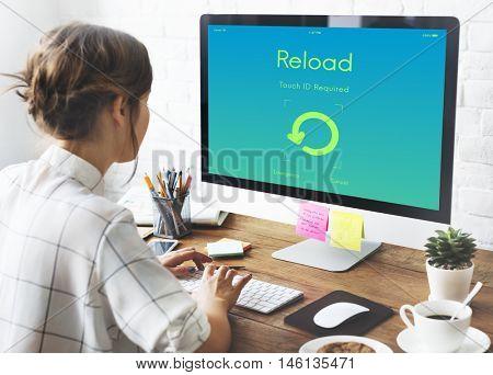 Reload Update Upgrade New Version Concept