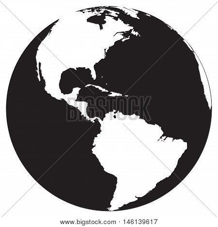 earth icon map black africa icon environment glossy background