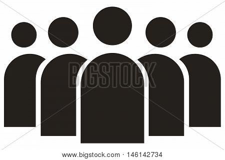 group of people icon partnership teamwork businessman