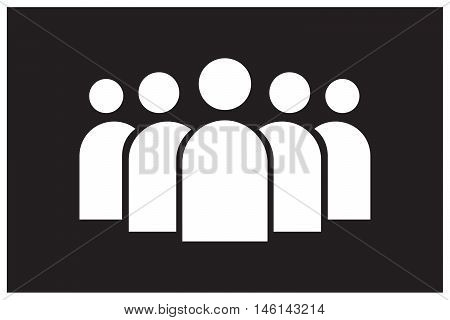 group of people icon black background teamwork