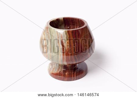 The isolated bowl from onyx on a white background