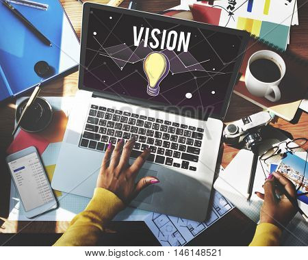 Ideas Progress Vision Inspiration Design Concept