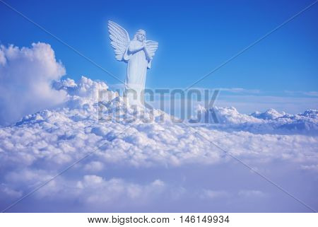 Guardian Angel looking down with thoughtful expression