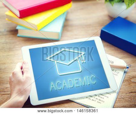 Mortar Board Education Success Icon Concept