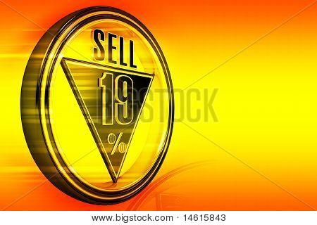 Gold Metall neunzehn Prozent verkaufen