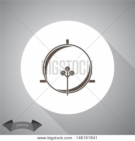 satellite dish  Vector icon for web and mobile