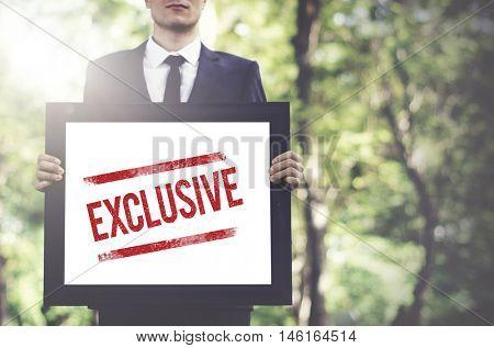 Exclusive Private Unique Special Rare Distinct Concept